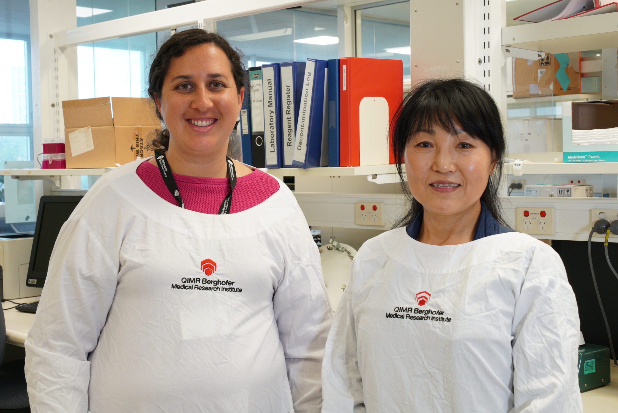 Lab assistants - Tabatha and Ching